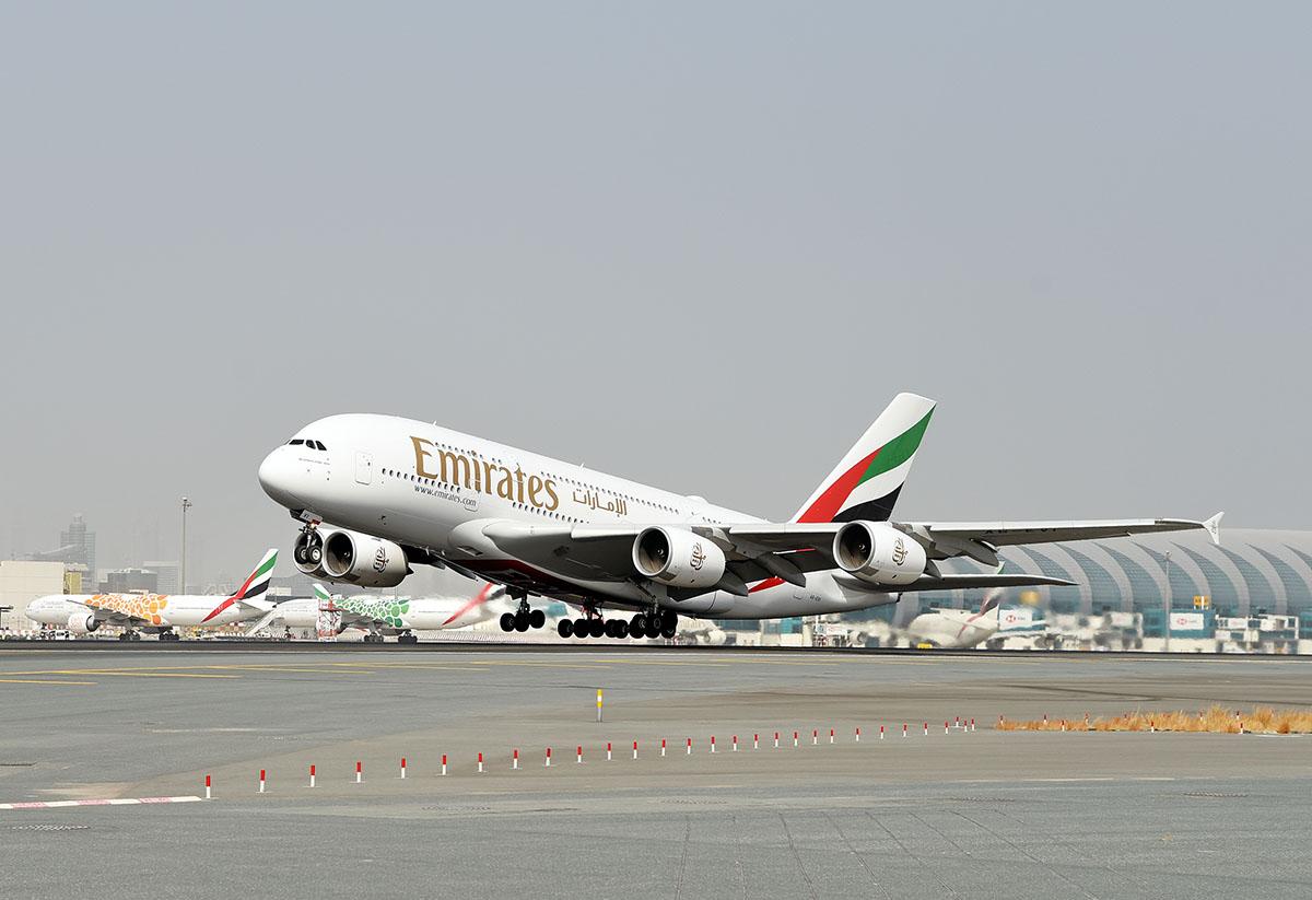 Airbus A380 da Emirates Airline em Dubai
