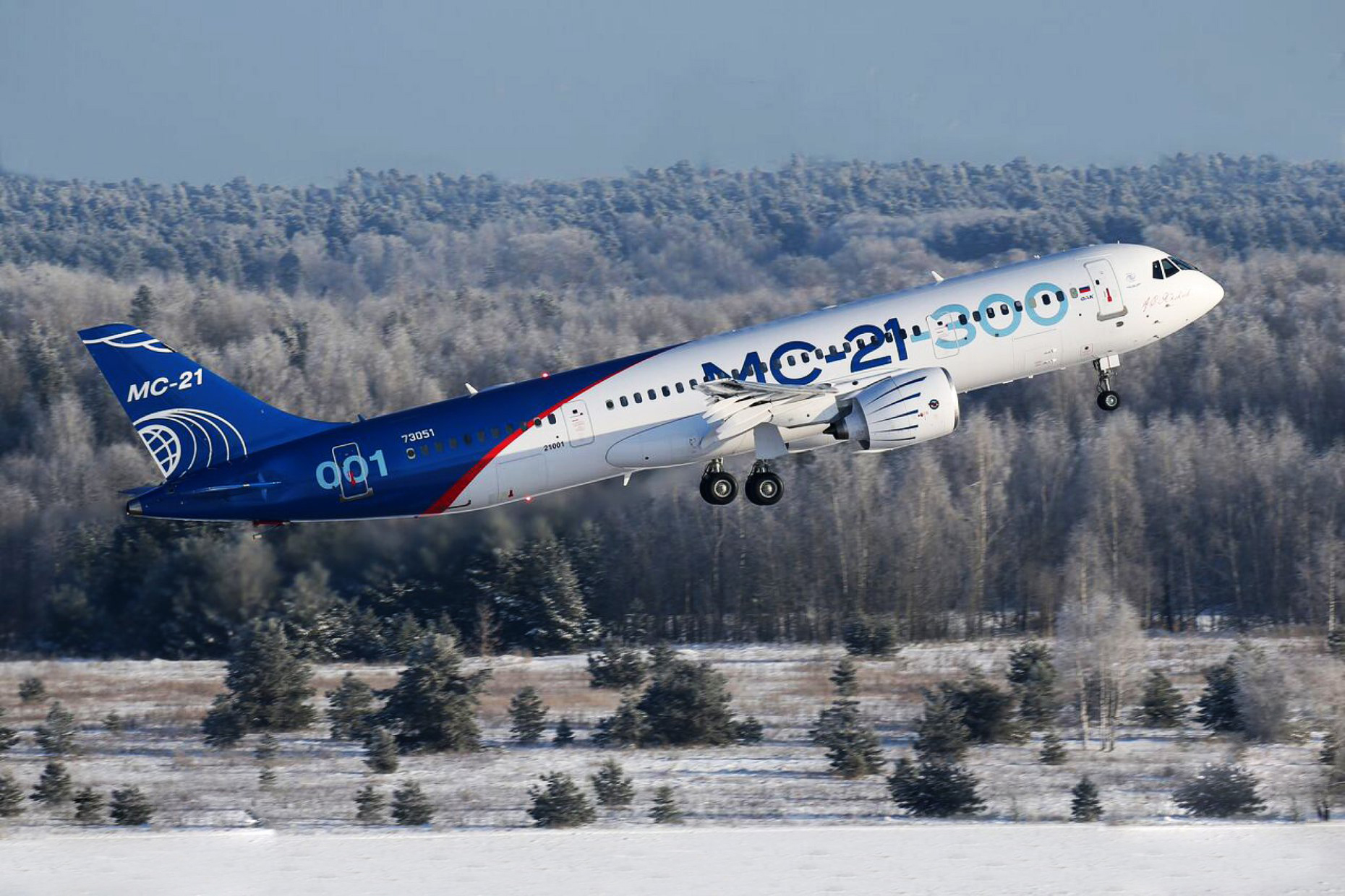 MC-21-300 em voo