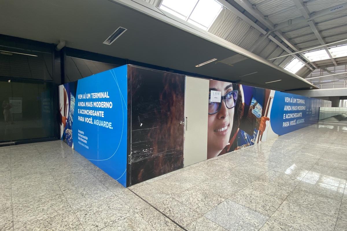 Reforma no Terminal 1 do Aeroporto de Confins