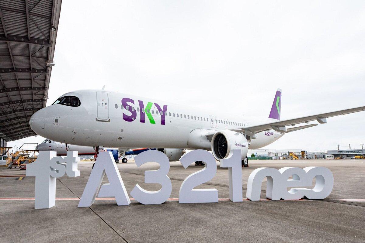 Airbus A321neo da SKY Airline