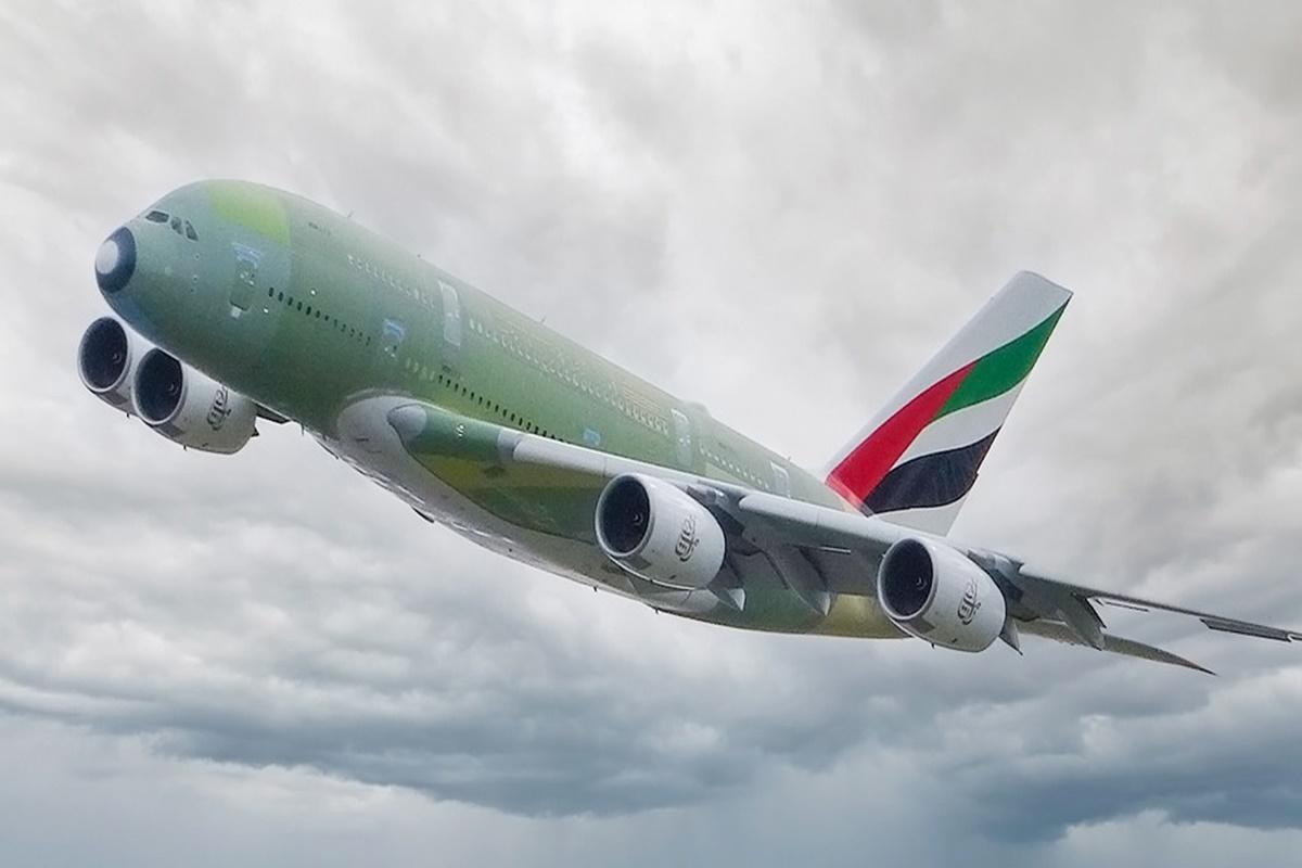 Último Airbus A380 da Emirates