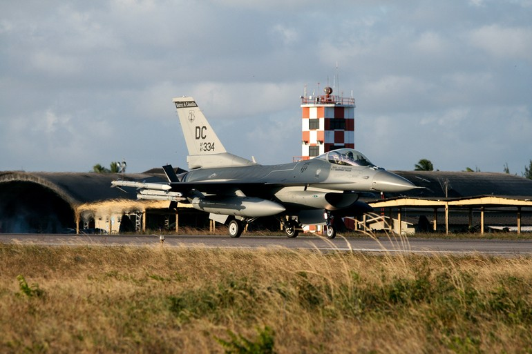 F-16C da Air National Guard, similar ao que o Brasil poderá adquirir
