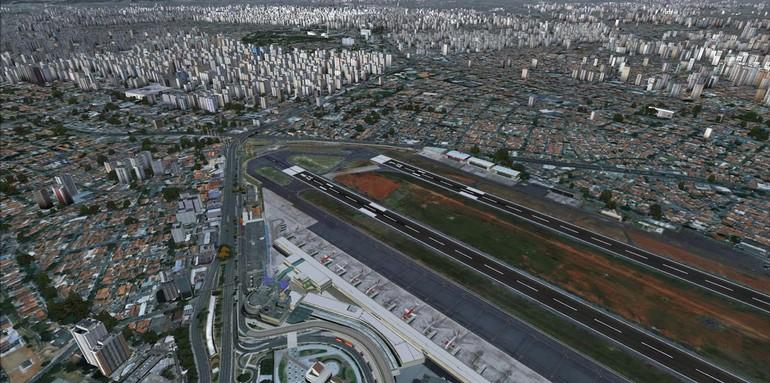 Cenário para  Fligh Simulator  de Congonhas