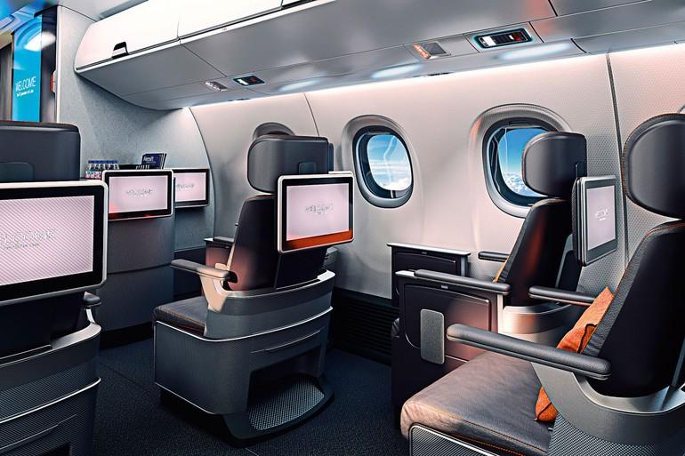 mock-up do interior dos novos E-Jet E2