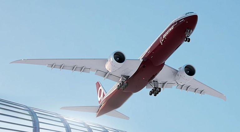 Boeing aplicará soluções testadas no 787 Dreamliner no interior da cabine do 777X