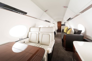 interior da cabine do Gufstream G500