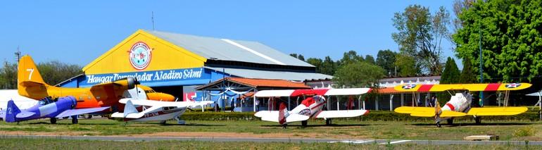 aeronaves antigas centro histórico Aeroclube de Campinas