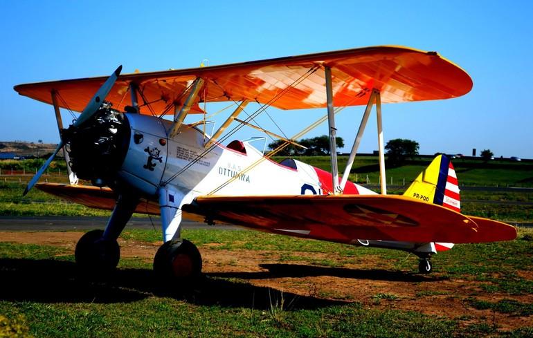 Boeing Stearman centro histórico Aeroclube de Campinas