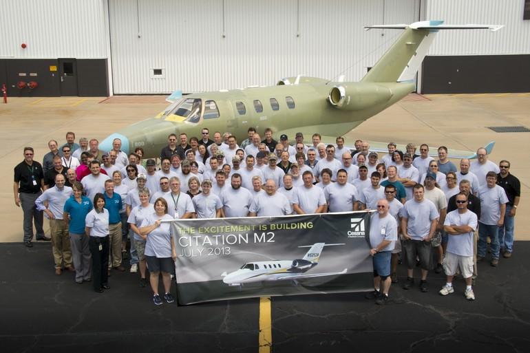 Primeiro Cessna Citation M2 deixa linha de produção