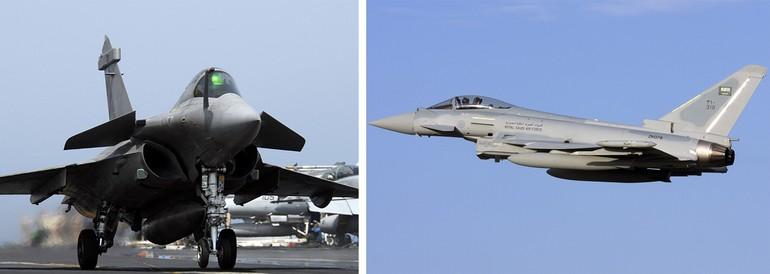 Rafale e Typhoon disputam maior número de horas de voo