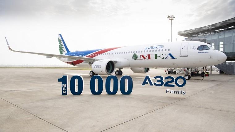 Airbus A320 número 10000