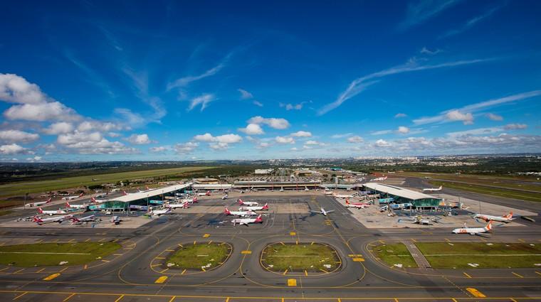 Vista aérea do aeroporto de Brasília