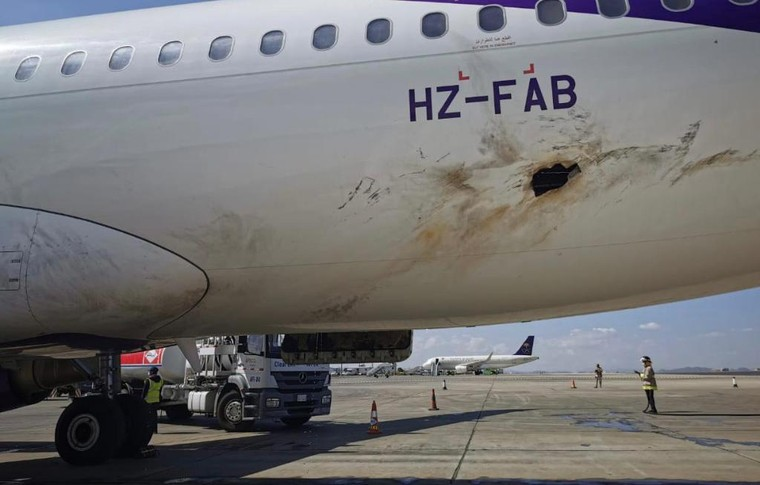 Airbus A320 danificado na Arábia Saudita após ataque com drone terrorista