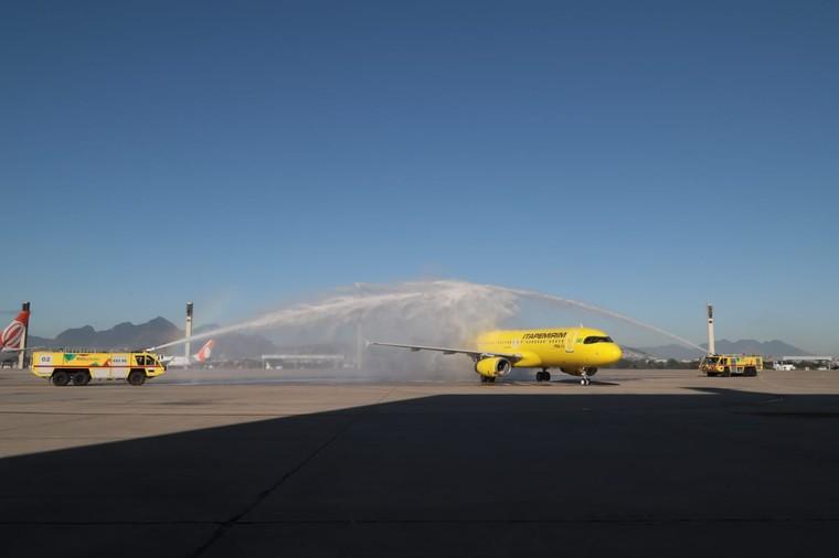 Airbus A320 da ITA no primeiro voo para o Rio de Janeiro