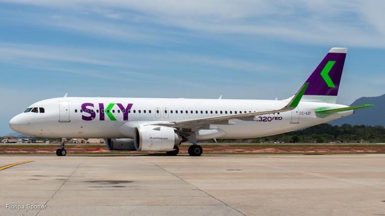 Airbus A320 da Sky em Florianópolis