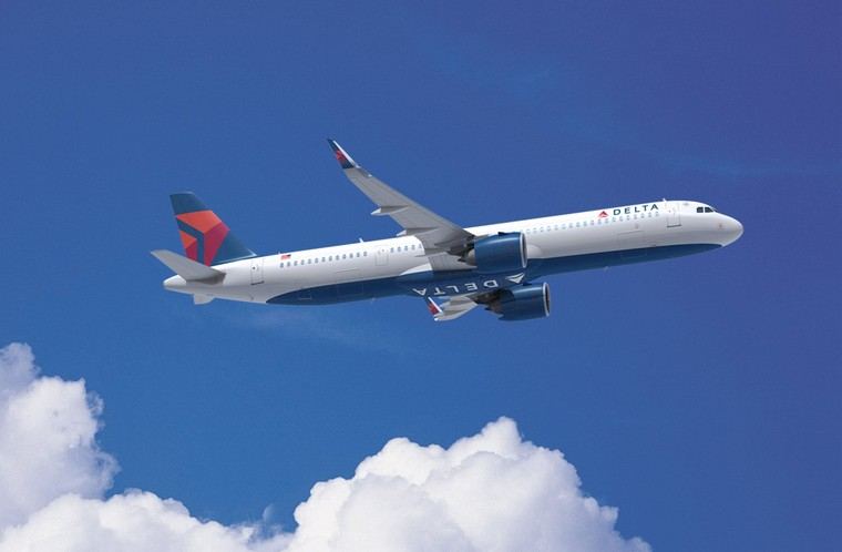 Airbus A321neo nas cores da Delta Air Lines