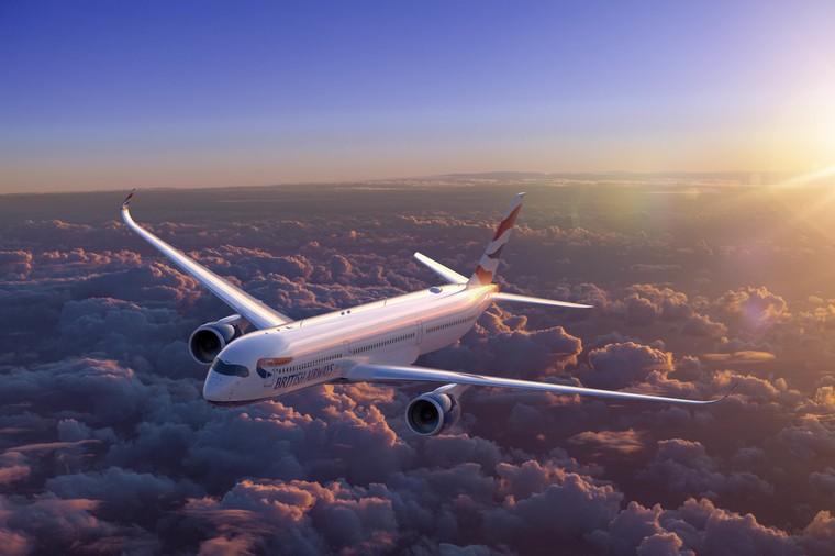 Airbus A350 da British Airways em voo
