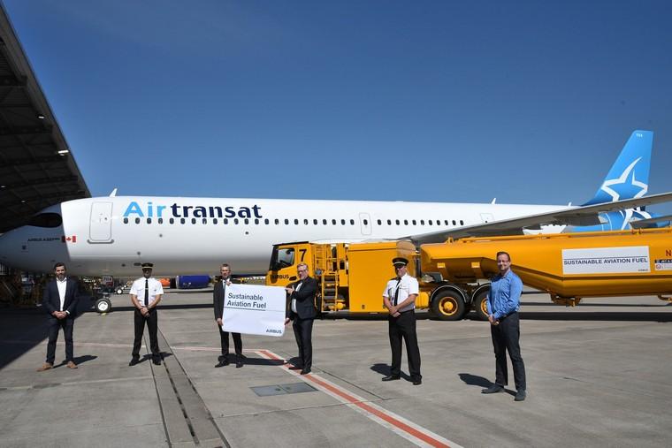 Airbus A321 abastecido com SAF