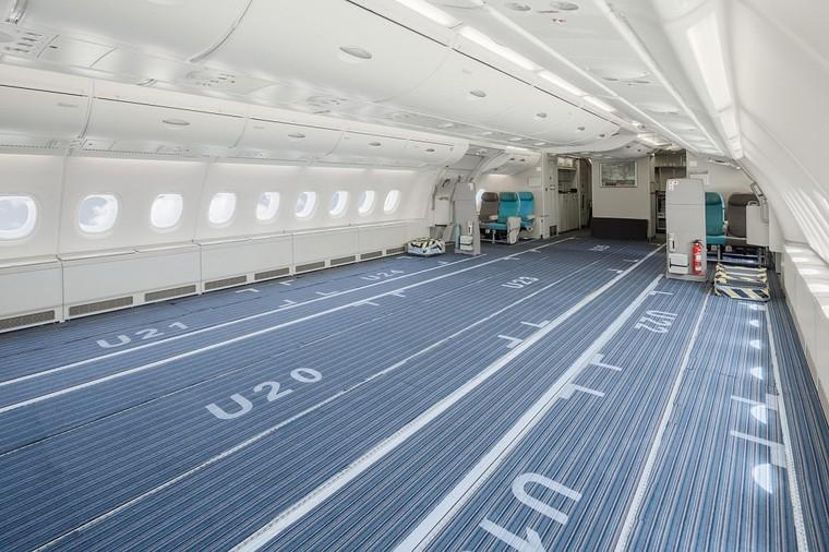 Interior do A380 da Airbus