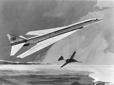 Arte do supersônico Boeing 733