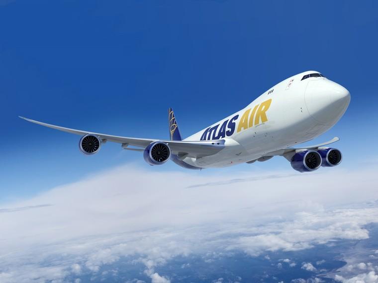 747-8F da Atlas Air que se tornou a última empresa a encomendar o modelo