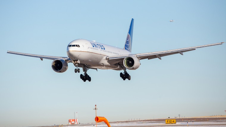 Boeing 777 da United Airlines em Denver
