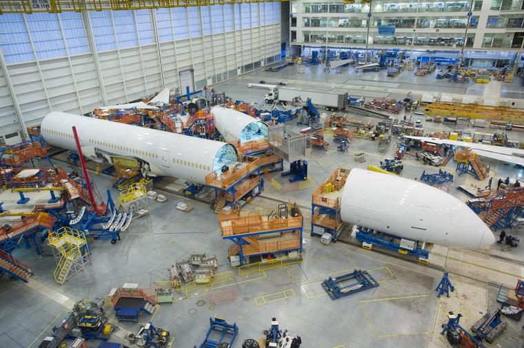 Linha de produção do 787