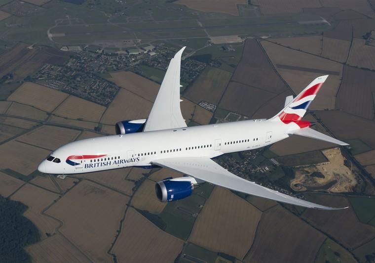 Boeing 787 da British Airways em voo