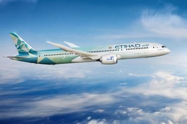 Boeing 787 da Etihad Airways em voo