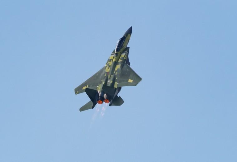 F-15EX durante seu primeiro voo