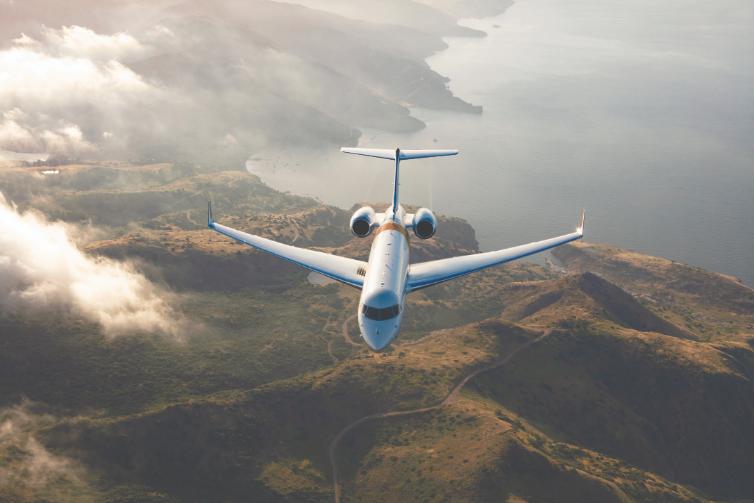 Global 6500 em voo
