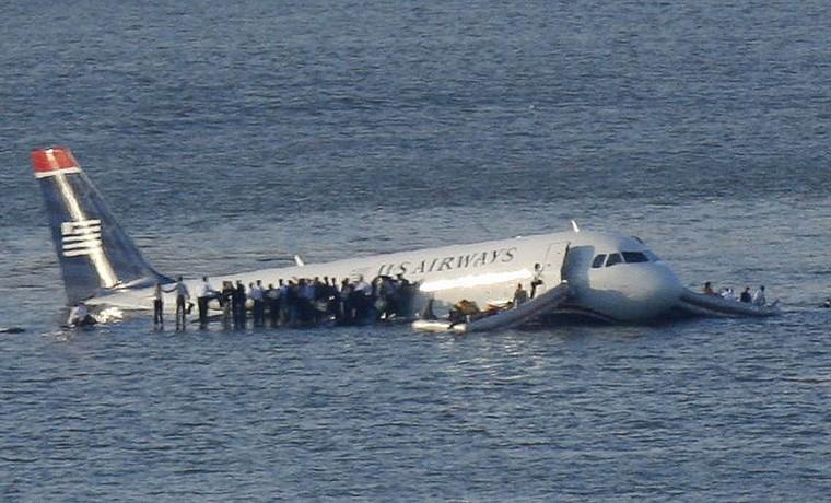 Airbus A320 no Rio Hudson