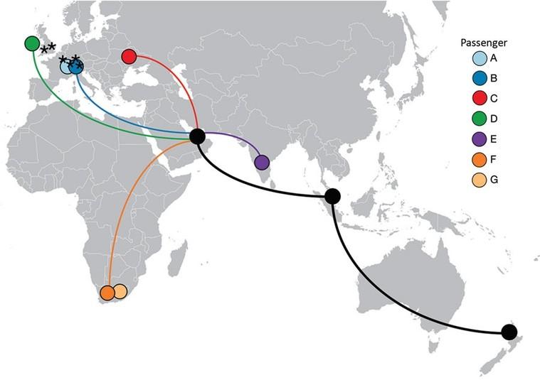 diagrama de voo da covid-19