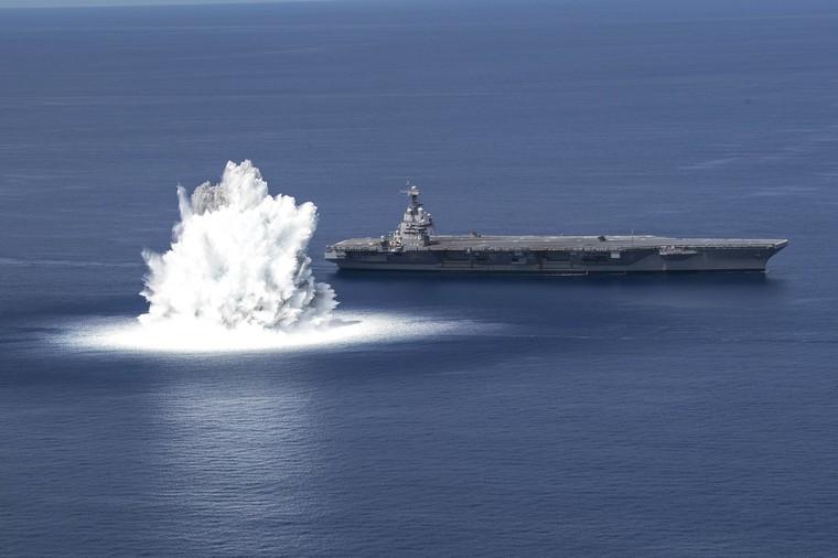 CVN-78 em testes em alto mar