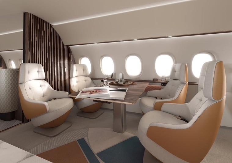 Cabine do Dassault Falcon 10X