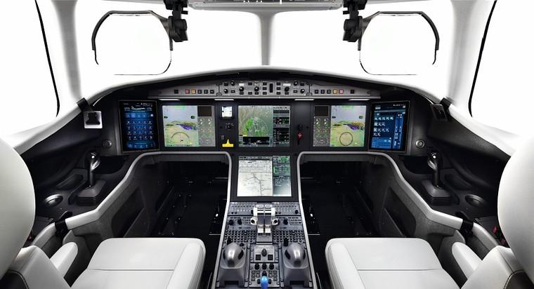 Cockpit do novo Dassault Falcon 6X