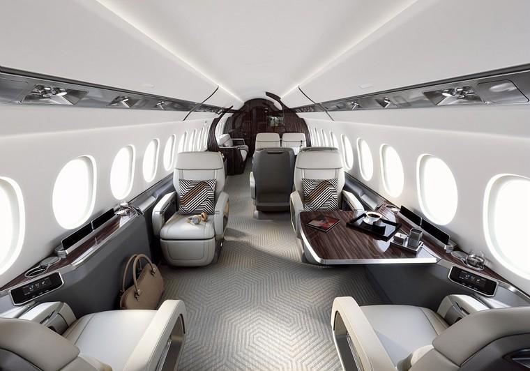 Interior do novo Falcon 6X