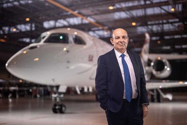 CEO da Dassault no Roll out do novo Falcon 6X