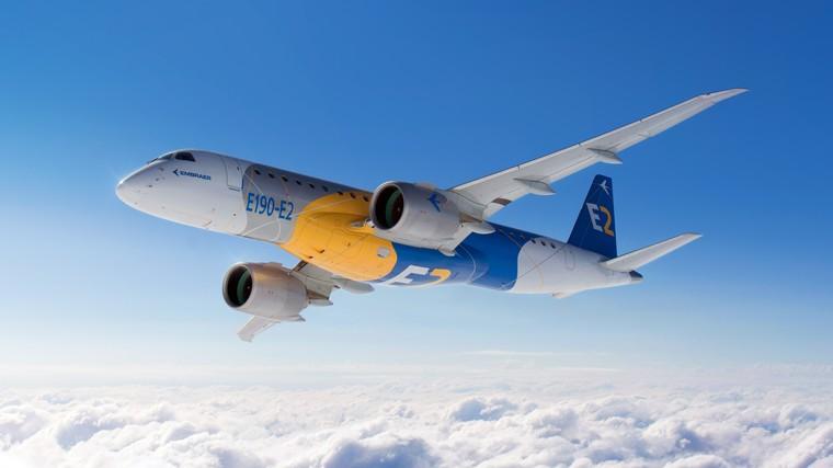 Embraer E-Jet E195-E2 em voo