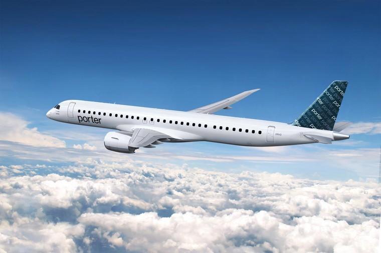 Embraer E195-E2 da Porter Airlines