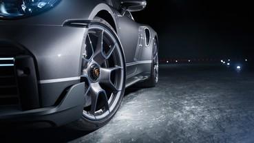Detalhe do Porsche 911 Turno S da série Duet