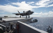 F-35C Lightning II realiza testes embarcado