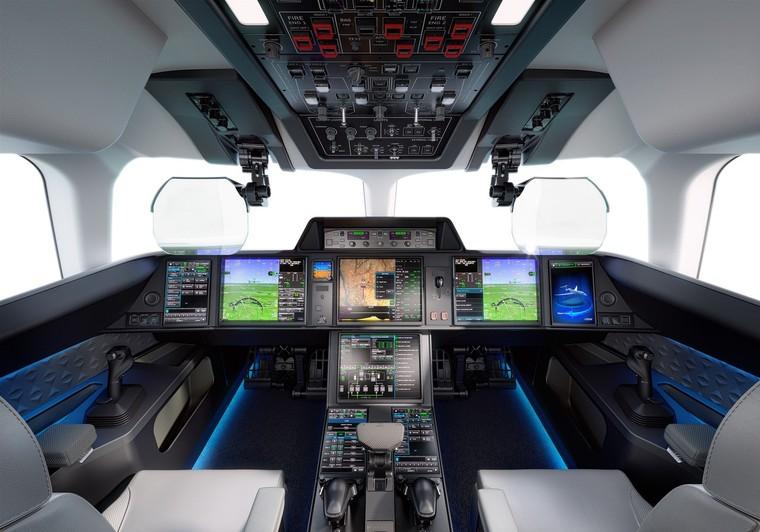 Cockpit do Falcon 10X