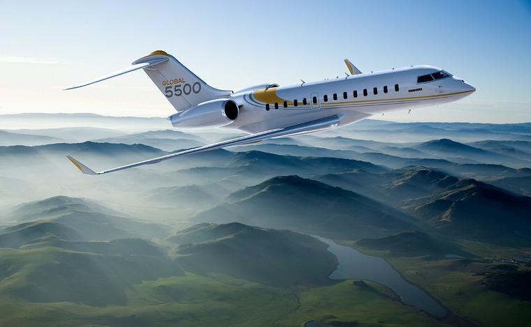Jato de negócios Bombardier GLobal 5000