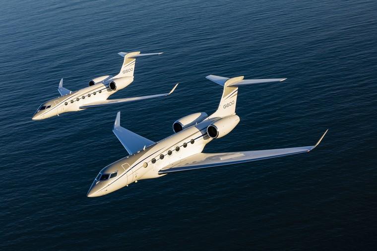 Gulfstream G500 e G600 em voo