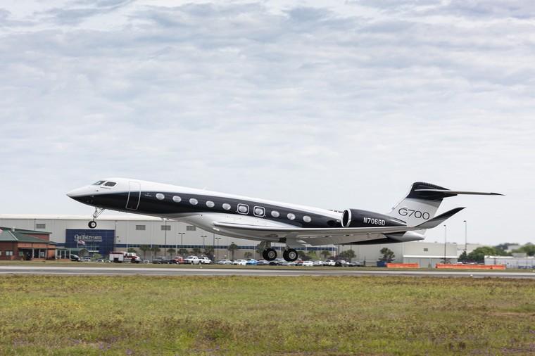 Sexto protótipo do Gulfstream G700