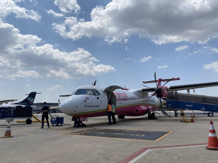 ATR 72 da Azul em Guanambi