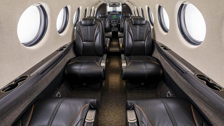 Interior do King Air 360