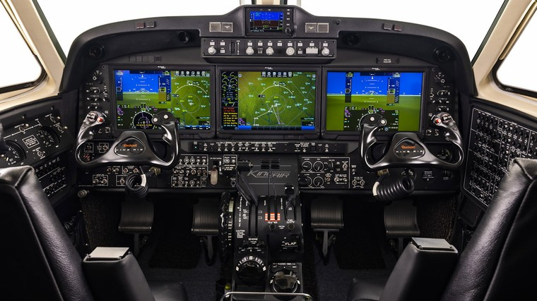Cockpit Collins Pro Line Fusion do King Air 360