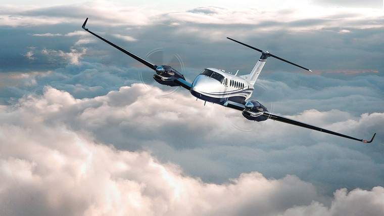 Beecraft King Air 360 em voo